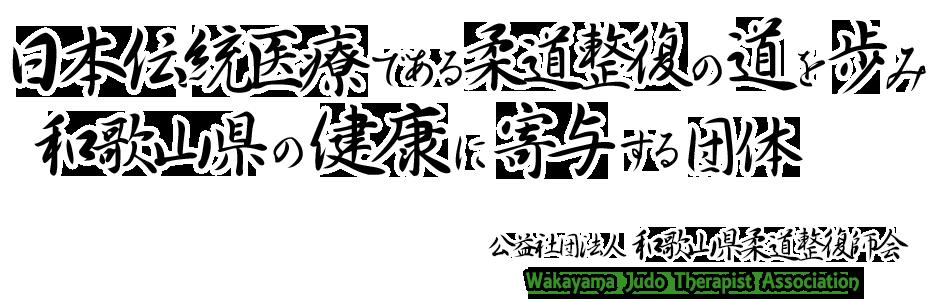 日本伝統医療である柔道整復の道を歩み和歌山県の健康に寄与する団体 和柔整会